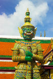 Γιγαντιαίος πράσινος Wat Phra kaew Στοκ φωτογραφίες με δικαίωμα ελεύθερης χρήσης