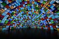 Γιγαντιαίος τοίχος πολυμέσων Στοκ Εικόνα