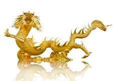 Γιγαντιαίος χρυσός κινεζικός δράκος Στοκ Εικόνες