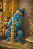 Γιγαντιαίο άγαλμα ύπνου στον ταϊλανδικό ναό Στοκ εικόνα με δικαίωμα ελεύθερης χρήσης