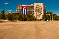 Γιγαντιαίο γλυπτό Che Guevara στην πρόσοψη του Υπουργείου Εσωτερικών Plaza de Λα Revolucion Τετράγωνο επαναστάσεων στην περιοχή ο Στοκ φωτογραφία με δικαίωμα ελεύθερης χρήσης