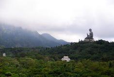 Γιγαντιαίο μοναστήρι Buddha/Po Lin στο Χονγκ Κονγκ, νησί Lantau Στοκ Εικόνα