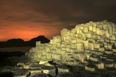 Γιγαντιαίο υπερυψωμένο μονοπάτι ` s τή νύχτα Στοκ εικόνες με δικαίωμα ελεύθερης χρήσης