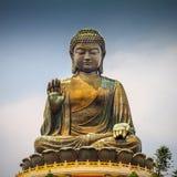 γιγαντιαίο Χογκ Κογκ μαύρισμα αγαλμάτων του Βούδα Κίνα tian Στοκ εικόνα με δικαίωμα ελεύθερης χρήσης
