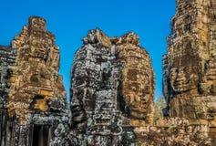 Γιγαντιαίο angkor thom Καμπότζη ναών προσώπων prasat bayon Στοκ φωτογραφία με δικαίωμα ελεύθερης χρήσης