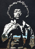 Σπασμένοι Hendrix καθρέφτες Jimi στοκ εικόνες