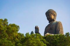 Γιγαντιαίο Tian Tan Βούδας στο Χονγκ Κονγκ Στοκ εικόνες με δικαίωμα ελεύθερης χρήσης