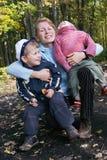 γιοι δύο οικογενειακώ&n Στοκ Φωτογραφίες