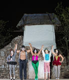 Γιορτάζοντας εκτελεστές Cirque Στοκ φωτογραφία με δικαίωμα ελεύθερης χρήσης