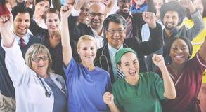 Γιορτάζοντας διαφορετική έννοια επαγγελμάτων ανθρώπων διάφορη Στοκ Φωτογραφίες
