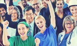 Γιορτάζοντας διαφορετική έννοια επαγγελμάτων ανθρώπων διάφορη Στοκ εικόνες με δικαίωμα ελεύθερης χρήσης