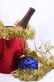 γιορτάζοντας νέο έτος Χρι& στοκ εικόνες