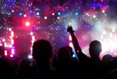 Γιορτάζοντας νέο έτος Στοκ Φωτογραφία