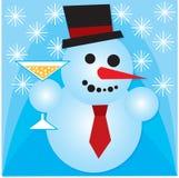 γιορτάζοντας χιονάνθρωπ&omic Στοκ Εικόνες