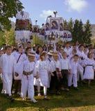 γιορτάζοντας Mary Άγιος teens Στοκ Φωτογραφία