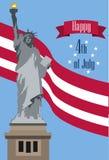 Γιορτάστε ευτυχή 4ο του Ιουλίου - ημέρα της ανεξαρτησίας ελεύθερη απεικόνιση δικαιώματος
