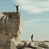 Γιορτάστε στο βράχο βουνών διανυσματική απεικόνιση