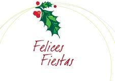 γιορτές felices blanco Στοκ εικόνα με δικαίωμα ελεύθερης χρήσης
