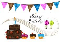 γιορτή γενεθλίων ελεύθερη απεικόνιση δικαιώματος