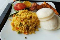 Γιορτή γευμάτων μεσημεριανού γεύματος τροφίμων yummy Στοκ Φωτογραφία
