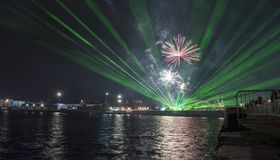 Γιορτή διακοπών επ' ευκαιρία της ημέρας της Βάρνας η πρωτεύουσα θάλασσας της Βουλγαρίας - επίσημες διακοπές στις 15 Αυγούστου Το  Στοκ φωτογραφίες με δικαίωμα ελεύθερης χρήσης
