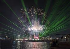 Γιορτή διακοπών επ' ευκαιρία της ημέρας της Βάρνας η πρωτεύουσα θάλασσας της Βουλγαρίας - επίσημες διακοπές στις 15 Αυγούστου Το  Στοκ εικόνες με δικαίωμα ελεύθερης χρήσης