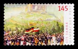 Γιορτή Μαΐου σε Hambach Castle 1832, 175η επέτειος serie, circa 2007 Στοκ Εικόνες