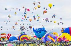 Γιορτή μπαλονιών του Αλμπικέρκη Στοκ Φωτογραφία