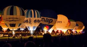 Γιορτή μπαλονιών του Μπρίστολ τη νύχτα Στοκ Εικόνες