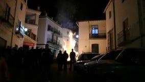 Γιορτή πυρκαγιάς Torvizcà ³ ν απόθεμα βίντεο