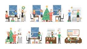 Γιορτή Χριστουγέννων γραφείων διανυσματική απεικόνιση