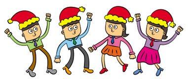 Γιορτή Χριστουγέννων γραφείων Στοκ Εικόνες