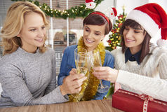 Γιορτή Χριστουγέννων στο γραφείο Στοκ φωτογραφία με δικαίωμα ελεύθερης χρήσης