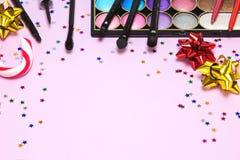 Γιορτή Χριστουγέννων makeup Στοκ εικόνες με δικαίωμα ελεύθερης χρήσης
