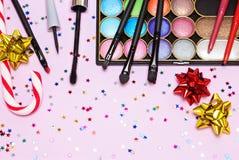 Γιορτή Χριστουγέννων makeup Στοκ φωτογραφίες με δικαίωμα ελεύθερης χρήσης