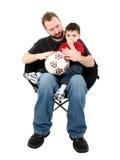 γιος συνεδρίασης πατέρω στοκ φωτογραφία