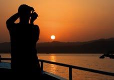 γιοτ ηλιοβασιλέματος &thet Στοκ Φωτογραφίες