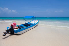 Γιοτ που δένεται σε Playa Paraiso, Μεξικό Στοκ φωτογραφία με δικαίωμα ελεύθερης χρήσης