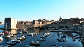 Γιοτ σε Dubrovnik, Κροατία Στοκ εικόνα με δικαίωμα ελεύθερης χρήσης