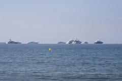 Γιοτ στη Μεσόγειο, γαλλικό Riviera Στοκ Εικόνες
