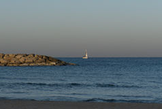 Γιοτ το πρωί σε Herzliya Στοκ Εικόνες