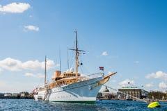 Γιοτ Dannebrog Royale Στοκ εικόνα με δικαίωμα ελεύθερης χρήσης