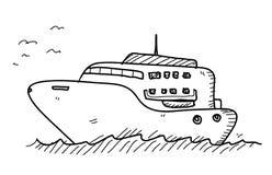 Γιοτ Doodle Στοκ φωτογραφία με δικαίωμα ελεύθερης χρήσης