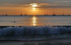 Γιοτ Phuket θάλασσας ηλιοβασιλέματος Στοκ Φωτογραφίες