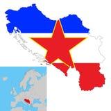 Γιουγκοσλαβία διανυσματική απεικόνιση