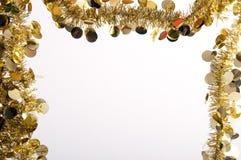 γιρλάντα πλαισίων χρυσή Στοκ εικόνα με δικαίωμα ελεύθερης χρήσης