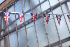 Γιρλάντα των χρωμάτων σημαιών της βρετανικής σημαίας Στοκ εικόνες με δικαίωμα ελεύθερης χρήσης