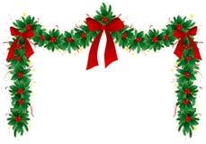 γιρλάντα Χριστουγέννων Στοκ Εικόνα
