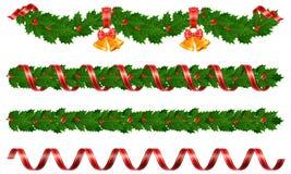 γιρλάντες Χριστουγέννων Στοκ Εικόνα