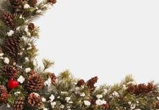Γιρλάντα στεφανιών Χριστουγέννων με το διάστημα αντιγράφων Στοκ φωτογραφία με δικαίωμα ελεύθερης χρήσης